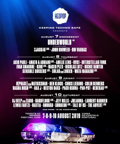 Neopop Festival Portugal 10th August 2019